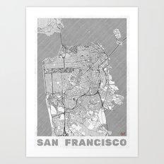 San Francisco Map Line Art Print