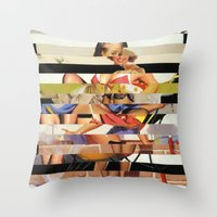 Glitch Pin-Up Redux: Gwen Throw Pillow