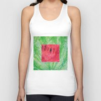 Fresh: Watermelon Unisex Tank Top