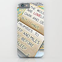 Stopping by woods - Robert frost iPhone 6 Slim Case