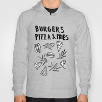 Burgers Pizza Fries in Pastel  Hoody