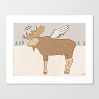 Holy Moose Canvas Print