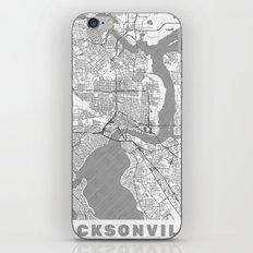 Jacksonville Map Line iPhone & iPod Skin