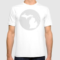 The GREAT LAKES of NORTH AMERICA Mens Fitted Tee SMALL White