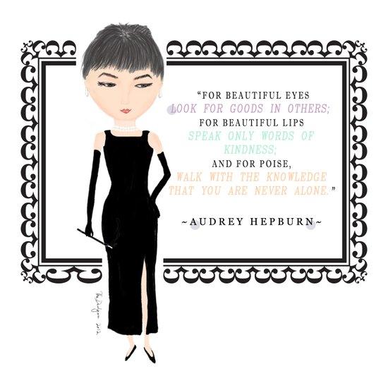wisdom of Audrey Hepburn Art Print