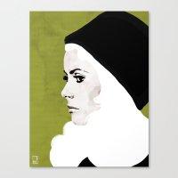 Catherine Deneuve Canvas Print