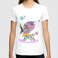 Look at me  Womens Fitted Tee White SMALL