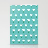 Spring Tulips - Blue Stationery Cards