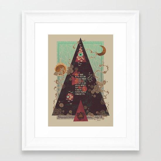 Coded Framed Art Print