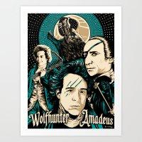 Wolfhunter Amadeus Art Print
