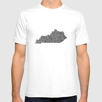 Typographic Kentucky Mens Fitted Tee White SMALL