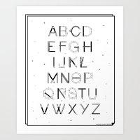 Craft Font Art Print