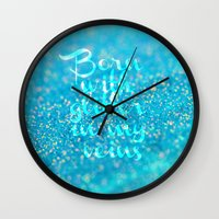 Glitter In My Veins (Pho… Wall Clock