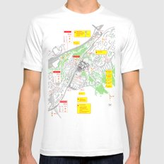 Haugerud Urban Center SMALL Mens Fitted Tee White