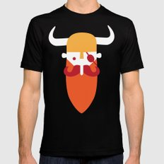 Viking Mens Fitted Tee SMALL Black