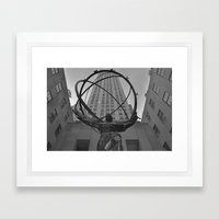 Atlas Statue And Rockefe… Framed Art Print