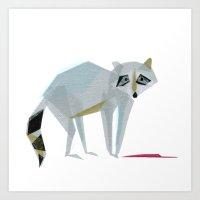 Wally Raccoon Art Print