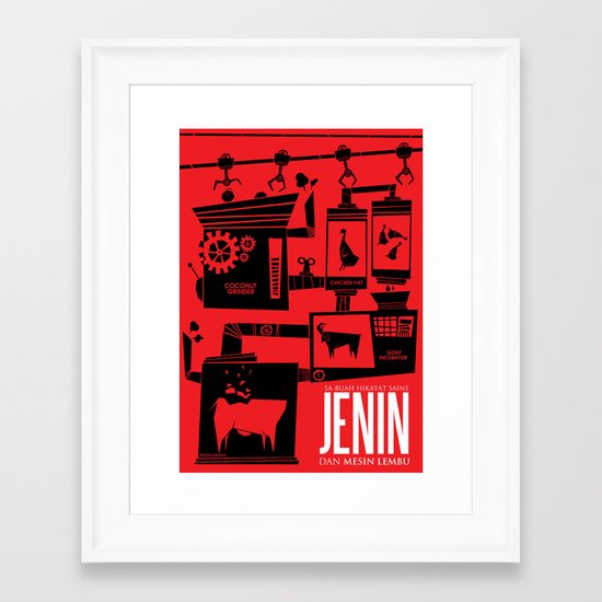 Jenin And The Cow Machine Framed Art Print