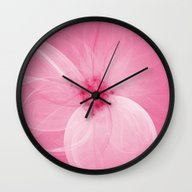 Pink Fairy Blossom Fract… Wall Clock