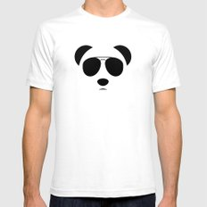 Panda Eyes Mens Fitted Tee White SMALL