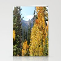 Autumn in the Rocky Mountains at Diamond Lake Trail, Eldora Colorado Stationery Cards