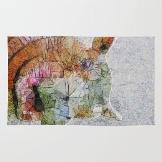 abstract hippo Area & Throw Rug