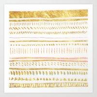 GOLD TRIBE Art Print
