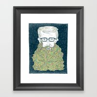 Hipster Beards Framed Art Print