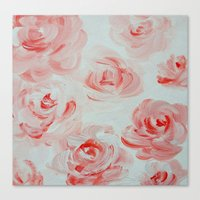 Pale Roses Canvas Print