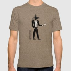 Reservoir God Mens Fitted Tee Tri-Coffee SMALL