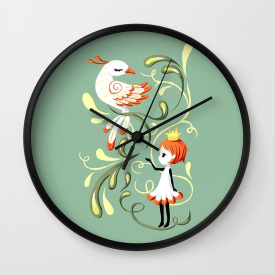 Princess and a Bird Wall Clock