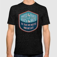 Hated By Fools  Mens Fitted Tee Tri-Black SMALL