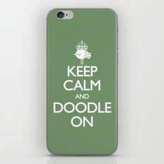 Keep Calm & Doodle On (Green) iPhone & iPod Skin