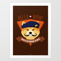 Hello wow, Omelette du Fromage So Much Art Print