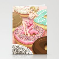 Donut Girl Stationery Cards