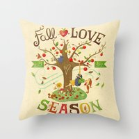 Fall In Love With The Se… Throw Pillow