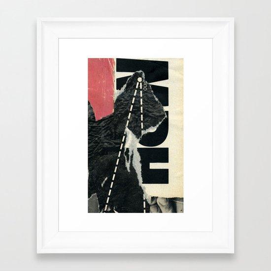 round trip Framed Art Print