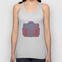 I Still Shoot Film Holga Logo - Blue & Red Unisex Tank Top