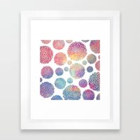 Watercolor Flowers Framed Art Print