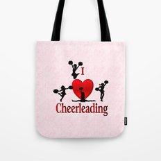 I Heart Cheerleading Tote Bag