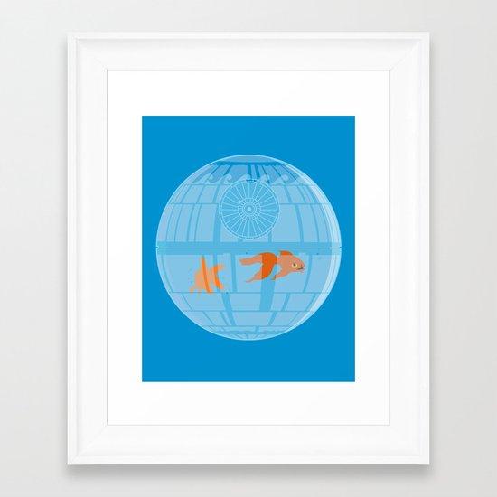 Empire Fish Bowl Framed Art Print
