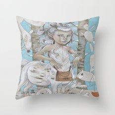 WINTER CENTAUR Throw Pillow