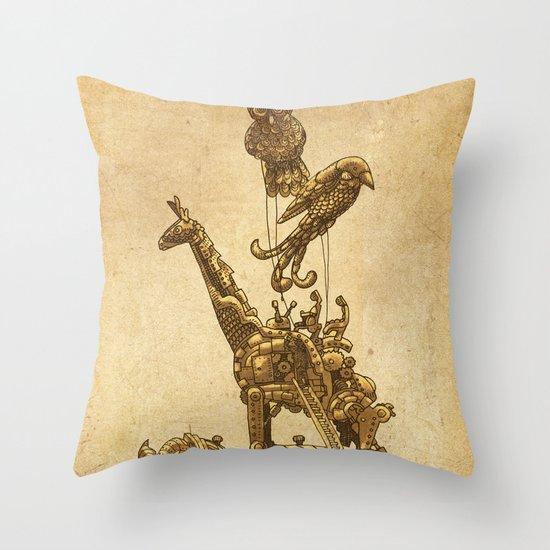 Mechanical Menagerie  Throw Pillow
