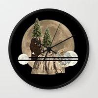 Mr & Mrs Christmas Wall Clock