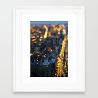 City Nights #1 Framed Art Print