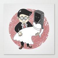 Geek in Love Canvas Print