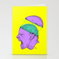 Brain Stain Stationery Cards