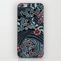 waves of tradition-blue iPhone & iPod Skin