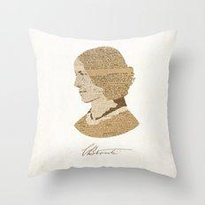 Charlotte Bronte  Throw Pillow