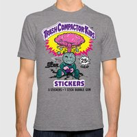 TRASH COMPACTOR KIDS Mens Fitted Tee Tri-Grey SMALL